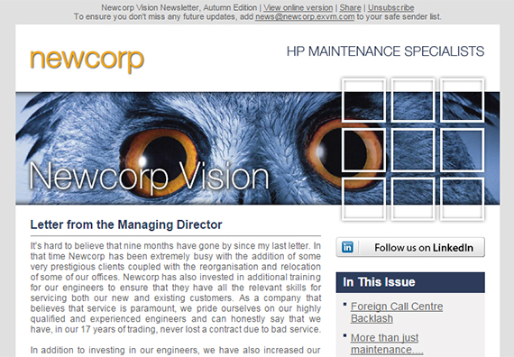 Newcorp Vision - Autumn 2014